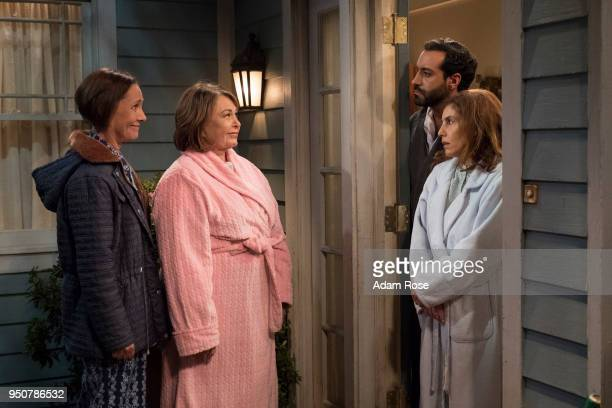 ROSEANNE 'Go Cubs' The Conners can't pay their WiFi bill so they befriend their new neighbors to use the internet for Mary to Skype with mom Geena...
