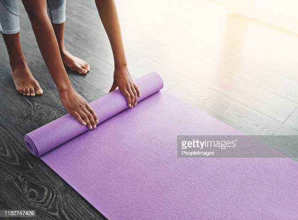i go everywhere with my yoga mat - mat stock pictures, royalty-free photos & images