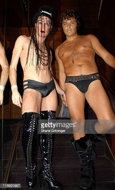 Go Go Boy Flavio and Go Go Boy Danny during The Launch Of La Dolce Eve Kitten Doll Hosted By Amanda Lepore February 20 2007 at Room Service in New...