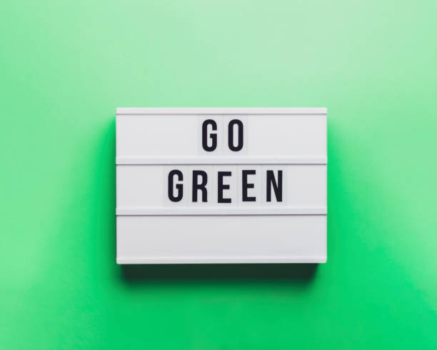 Go Green Sign. Green Background.