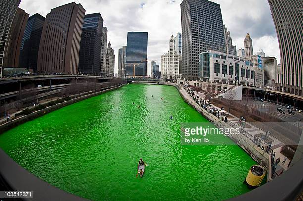 go irish! go green! - chicago river stock pictures, royalty-free photos & images