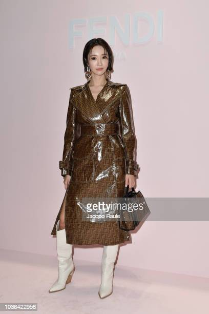 Go Joon hee attends the Fendi show during Milan Fashion Week Spring/Summer 2019 on September 20 2018 in Milan Italy
