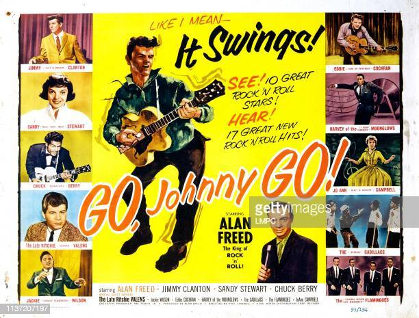 Go, lobbycard, JOHNNY, !, Jimmy Clanton, Sandy Stewart, Chuck Berry, Ritchie Valens, Jackie Wilson, Eddie Cochran, Harvey Fuqua, Jo-Ann Campbell, The...