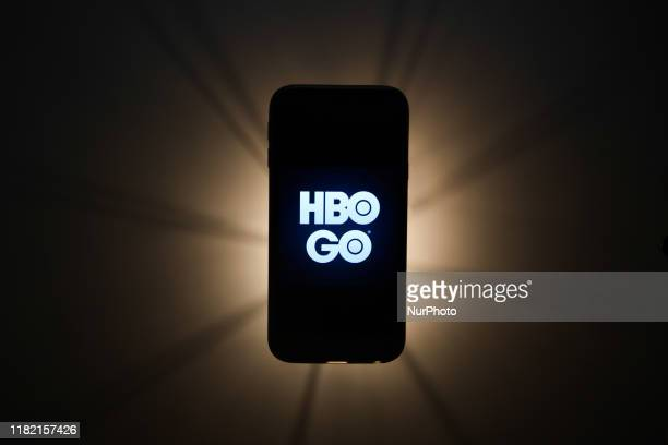 HBO Go logo is seen displayed on a phone screen in this illustration photo taken in Krakow Poland on November 13 2019