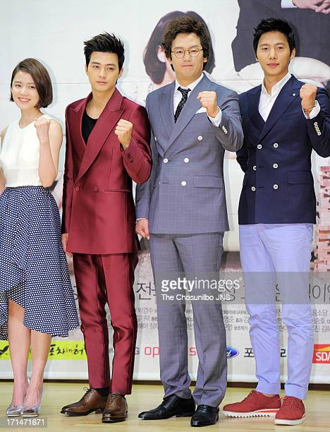 Go NaEun Kim JiHoon Kim JungTae and Lee SangWoo attend the SBS Drama 'Goddess of Marriage' Press Conference at sbs Broadcasting Center on June 24...
