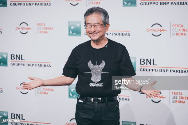 Go Nagai attends 'Mazinger Z Infinity' photocall during the 12th Rome Film Fest at Auditorium Parco Della Musica on October 28 2017 in Rome Italy