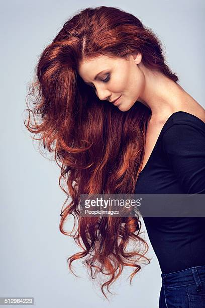 go on, let your hair down! - dyed hair stock pictures, royalty-free photos & images