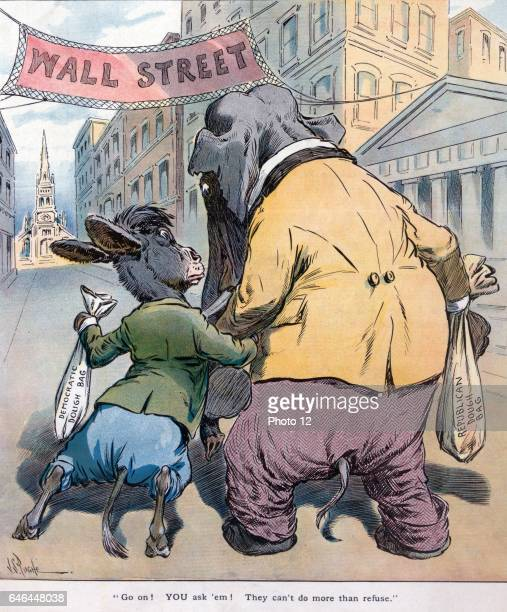 Go on You ask 'em They can't do more than refuse by J S Pughe 18701909 artist Published 1908 The Democratic donkey carrying the 'Democratic Dough...