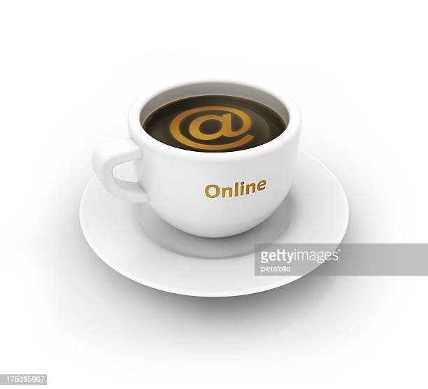 go online with coffee cup