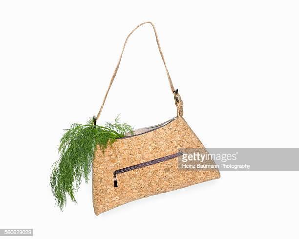 Go Vegan - Handbag made of cork with dill