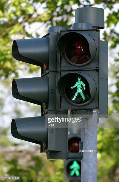 go - walk - road signal stock pictures, royalty-free photos & images