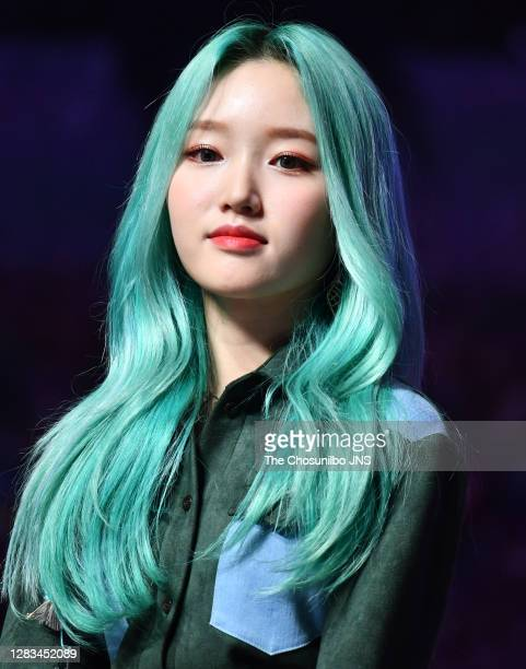 Go Won of LOONA during LOONA's New Mini Album 'Midnight' at Blue Square on October 19, 2020 in Seoul, South Korea.