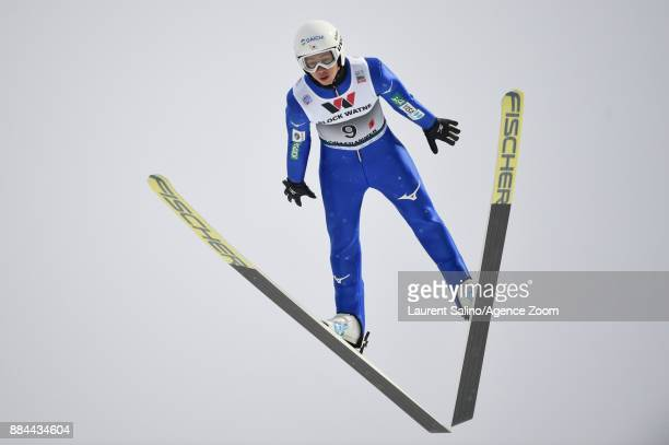 Go Yamamoto of Japan competes during the FIS Nordic World Cup Men's and Women's Nordic Combined HS100/Team on December 2 2017 in Lillehammer Norway