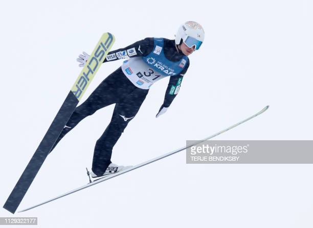 Go Yamamoto of Japan competes during the FIS Ski Jumping World Cup Men´s Nordic Combined in Holmenkollen, on March 9, 2019. / Norway OUT