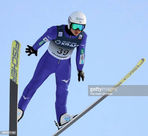 Go Yamamoto of Japan competes in the ski jumping of the Men's Gundersen LH HS140/100 K during day two of the FIS Nordic Combined World Cup on...