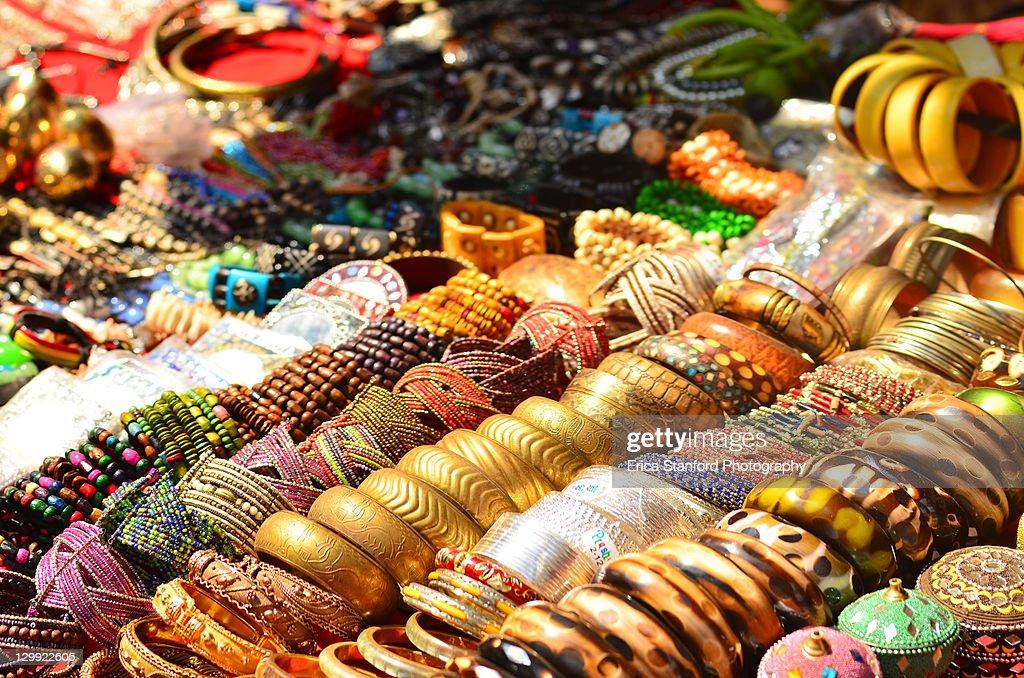 Goa anjuna flea market : Stock Photo