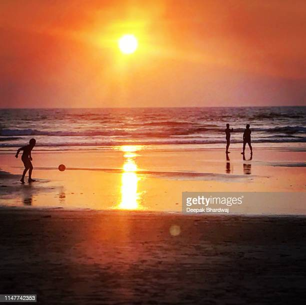 goa sunset - goa stock pictures, royalty-free photos & images