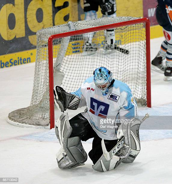 Goal 51 Boris Rousson from Hamburg Freezers during the DEL match between Eisbaeren Berlin and Hamburg Freezers at the Wellblechpalast on September 18...