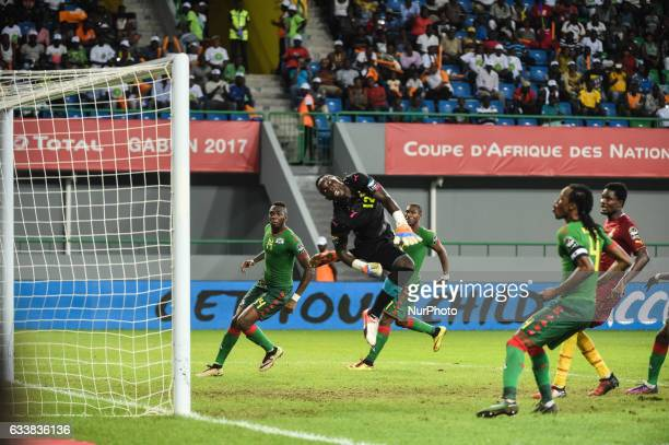 Goal by Sibiri Alain Traore past Richard Ofori during the 2017 Africa Cup of Nations 3rd place match in Port Gentile Gabon on 4/2/2017