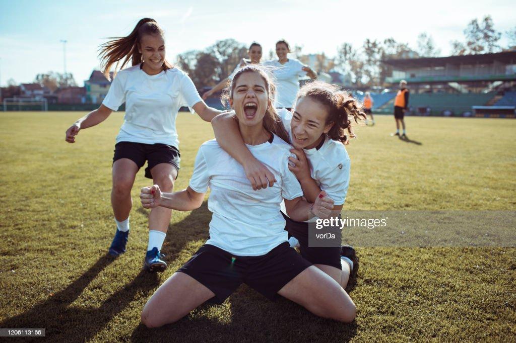 Goal Celebration : Stock Photo