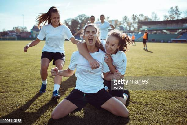 goal celebration - drive ball sports stock pictures, royalty-free photos & images