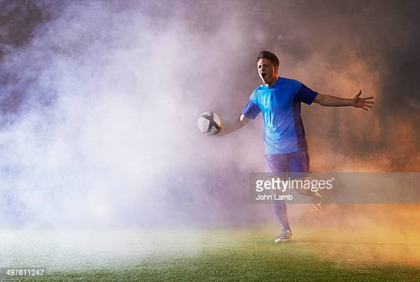 goal euphoria - football player stock pictures, royalty-free photos & images