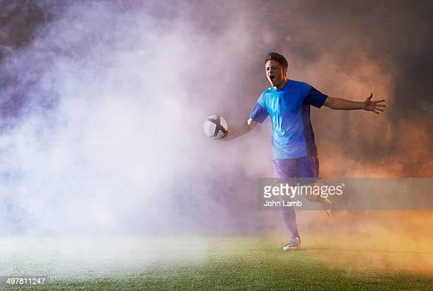 goal euphoria - sportsperson stock pictures, royalty-free photos & images