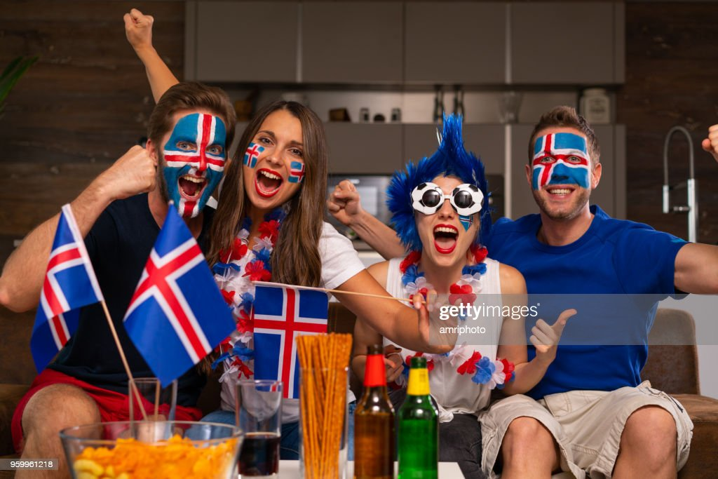 goal for iceland : Stock Photo