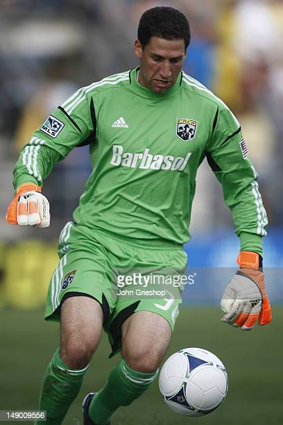 Goal Keeper Andy Gruenebaum of the Columbus Crew tracks down the ball during the game against the DC United at Columbus Crew Stadium on July 21 2012...