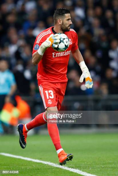 NOVEMBER Goal Keeper Kiko Casilla of Real Madrid cf in action during the UEFA Champions League group H match between Tottenham Hotspur and Real...