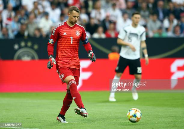 Goal keeper Manuel Neuer of Germany in action during the UEFA Euro 2020 Qualifier match between Germany and Estonia at Opel Arena on June 11, 2019 in...
