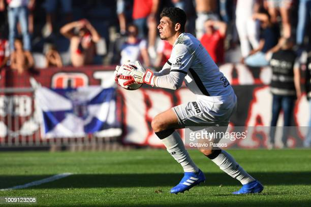 Goal keeper Matheus of SC Braga in action during the Preseason friendly between SC Braga and Newcastle on August 1 2018 in Braga Portugal