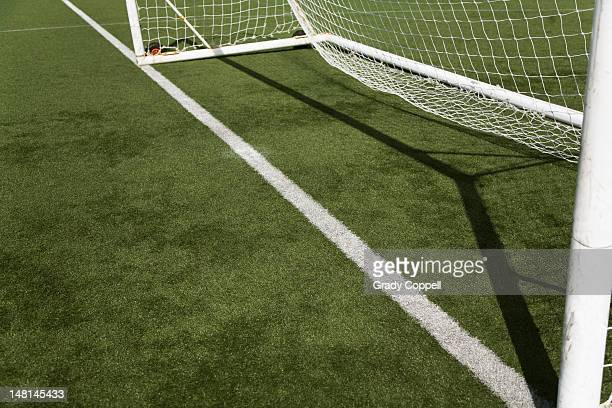 Goal line on a football pitch