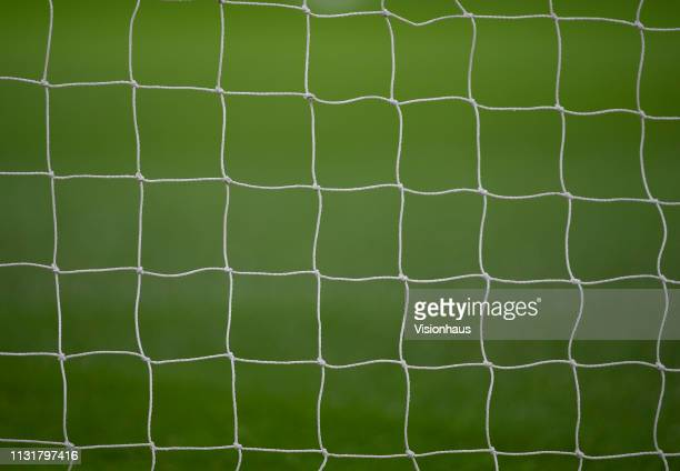 Goal net before the FA Cup Fifth Round match between Chelsea and Manchester United at Stamford Bridge on February 18 2019 in London United Kingdom