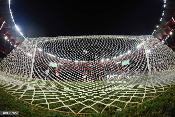 Goal of Arizala from Leon against Flamengo during a match between Flamengo and Leon as part of Copa Bridgestone Libertadores 2014 at Maracana Stadium...