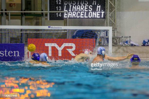 A goal of Barceloneta players during the Champions League water polo match between Pro Recco and Barceloneta on march 15 2019 at Piscina Monumentale...