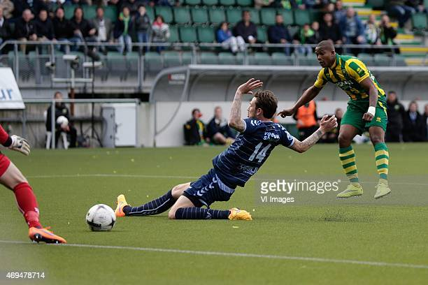 goal of Gervane Kastaneer of ADO Den Haag 20 during the Dutch Eredivisie match between ADO Den Haag and FC Utrecht at Kyocera stadium on April 12...