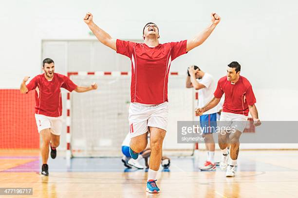 goal! - handball stock pictures, royalty-free photos & images