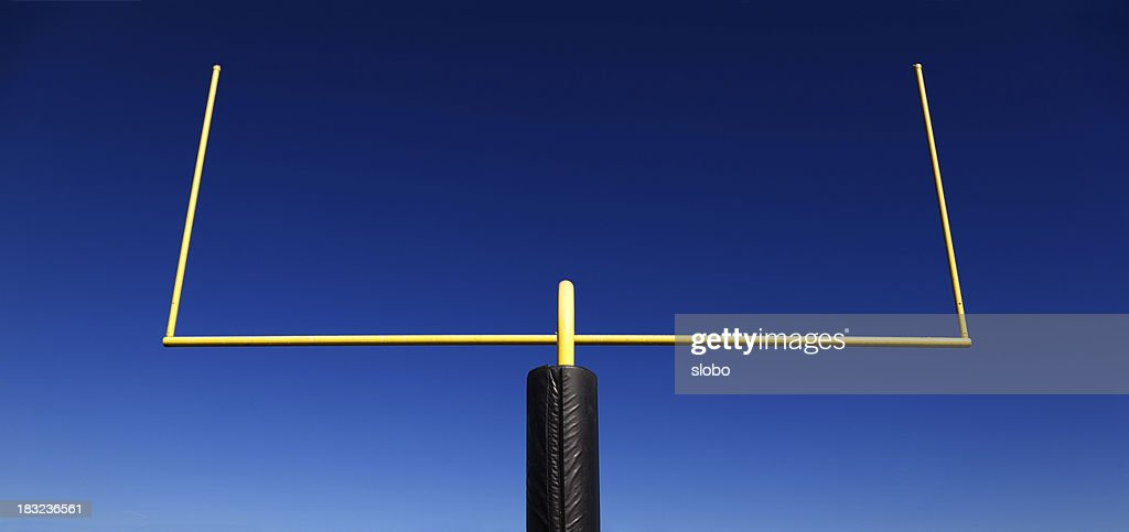Goal Post Against Blue Sky : Stock Photo