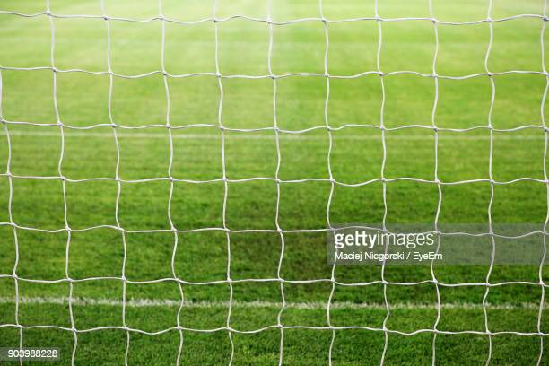 goal post on soccer field - goal sports equipment stock pictures, royalty-free photos & images