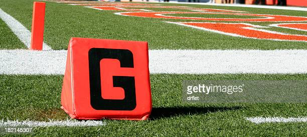 goal to go - end zone stock pictures, royalty-free photos & images