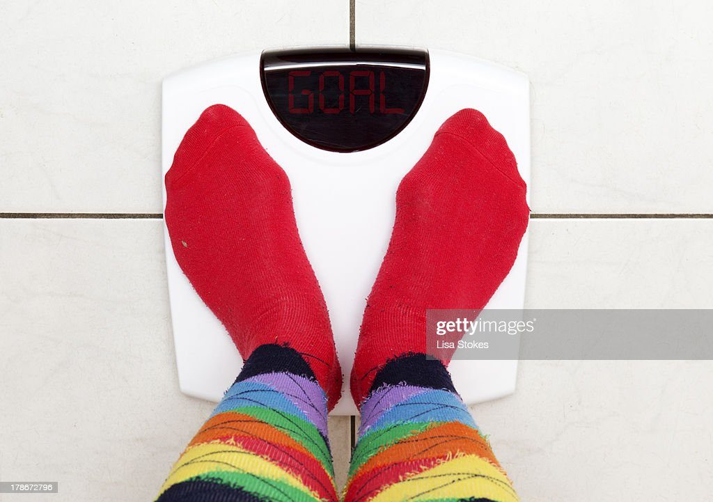 Goal Weight : Stock Photo