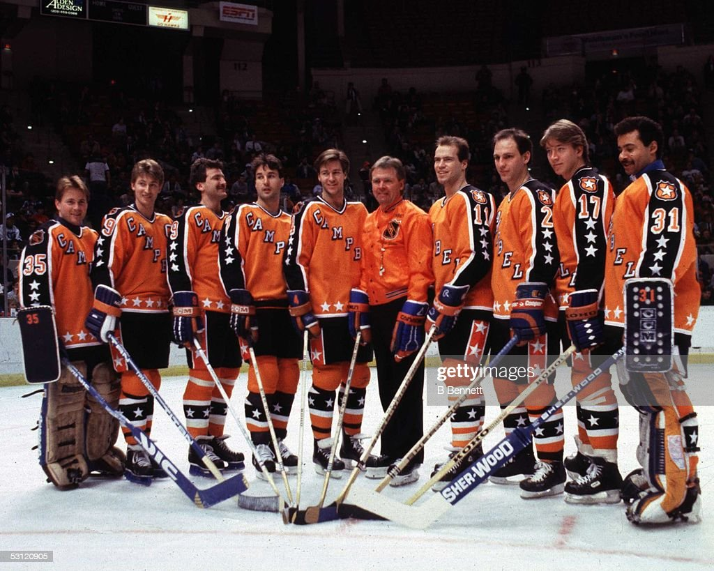 1986 38th NHL All-Star Game: Campbell Conference v Wales Conference : News Photo