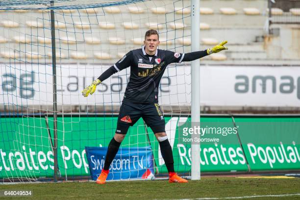 Goalie Anton Mitryushkin looks on during the Swiss Super League match between FC Lausanne-Sport and FC Sion, at Stade Olympique de la Pontaise in...