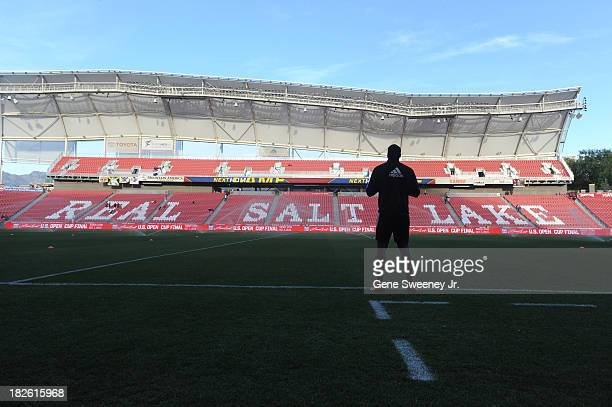 Goalie Bill Hamid of DC United stands on the sidelines before a game against Real Salt Lake at Rio Tinto Stadium October 1 2013 in Sandy Utah