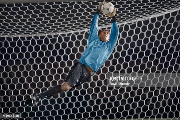 Goalie Blocking Soccer Ball