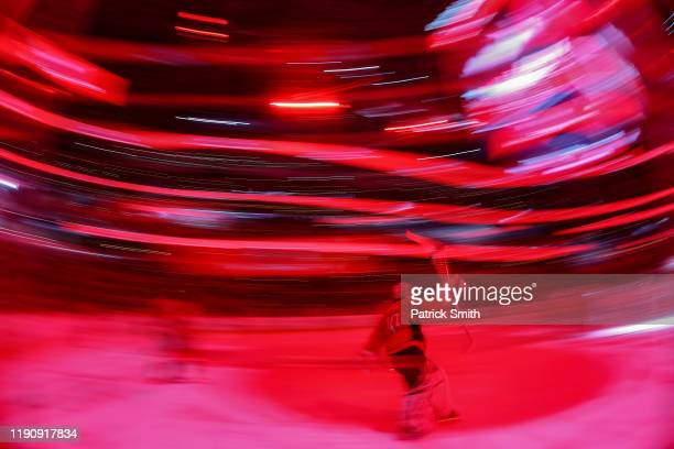 Goalie Braden Holtby of the Washington Capitals takes the ice before playing against the Tampa Bay Lightning during the first period at Capital One...