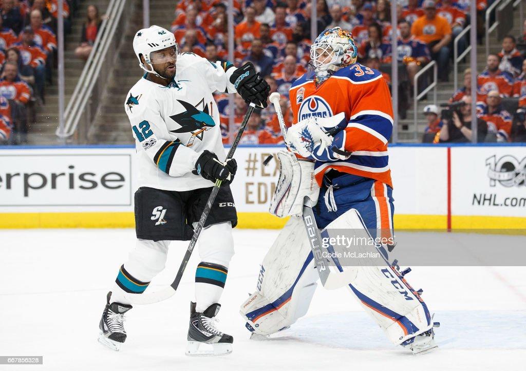 San Jose Sharks v Edmonton Oilers - Game One : News Photo