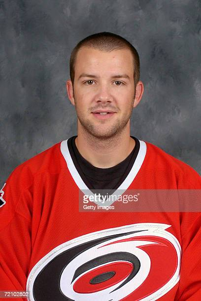 Goalie Cam Ward of the NHL Carolina Hurricanes poses for a portrait at RBC Center on September 14, 2006 in Raleigh, North Carolina.