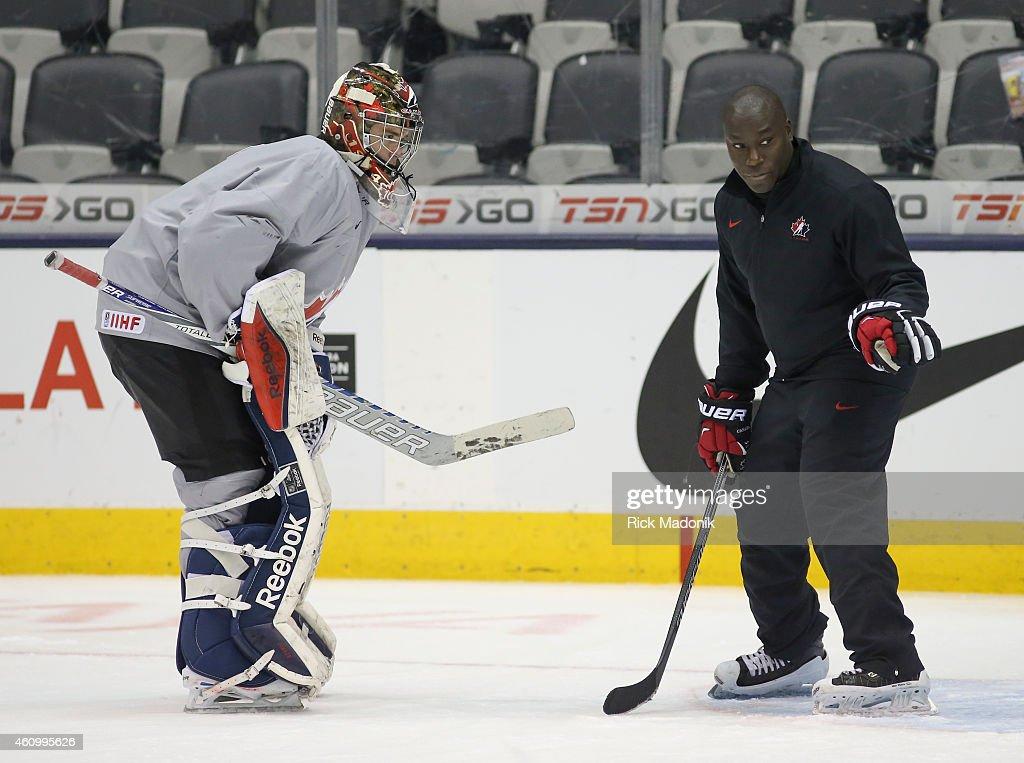Team Canada practice : News Photo